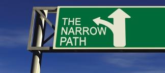 narrow path sign